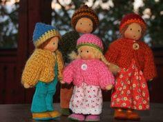 tiny waldorf dolls