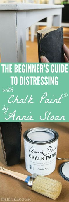 The Beginner's Guide to Distressing with Annie Sloan It turns out that distressing with Chalk Paint® Decorative Paint and Wax by Annie Sloan doesn't have to be stressful at all! Here's a detailed tutorial for how to age and distress a piece of furnit Old Furniture, Refurbished Furniture, Repurposed Furniture, Furniture Projects, Furniture Makeover, How To Distress Furniture, Bedroom Furniture, How To Paint Furniture, Furniture Stores