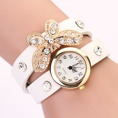6e02c21076 Aliexpress.com : Buy Hot Duoya Brand Watch Women Gold Butterfly Leather  Fashion Casual Bracelet Watch Women Dress Luxury Girls Quartz Wristwatches  from ...