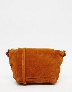ASOS Festival Suede Cross Body Bag with Square Flap