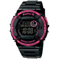 THE SUPPLY SHOPPE - Product - CW069 BABY G BLACK AND PINK (BGD-120P-1DR) G Watch, Casio Watch, Baby G, Watches, Black, Pink, Wristwatches, Black People, Clocks