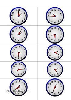 Das Uhrzeit- Memory
