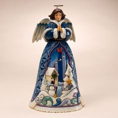 In Winter The Spirit Rests-Winter Angel With Dangles Figurine...by Jim Shore