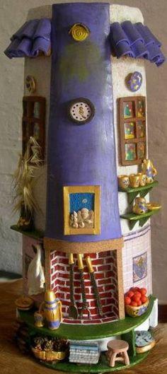 Comprar Estufa Uruguaya - Artesanía de Graciela Cobas Morales por 121,00 EUR en Artelista.com, con gastos de envío y devolución gratuitos a todo el mundo Biscuit, Art Projects, Projects To Try, Tuile, Paper Crafts, Diy Crafts, Magical Creatures, Fairy Houses, Paper Quilling