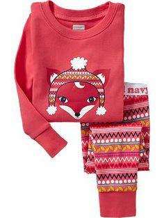 Fox-Print PJ Sets for Baby | Old Navy  Love these!