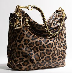 Leopard print Coach purse.