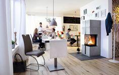 Camina S16 on pienikokoinen takka josta tuli näkyy kolmeen suuntaan. Hissiluukun ansiosta tulinäkyvyys on erinomainen. Takan integroidun palomuurin ansiosta se voidaan asentaa suoraan palavaan seinään kiinni. #habitare2015 #design #sisustus #messut #helsinki #messukeskus Modern, Contemporary, Helsinki, Dining Table, Furniture, Design, Home Decor, Drive Way, Fireplace Heater