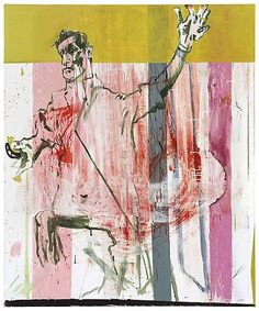 Martin Kippenberger, <i>Untitled (from the series The Raft of Medusa)</i>, 1996 oil on canvas, 70.87 x 59.06 inches (180 x 150 cm) © Estate Martin Kippenberger, Galerie Gisela Capitain, Köln