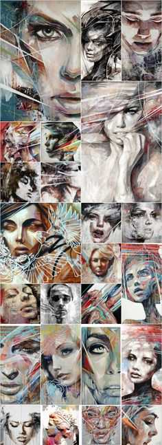 Reading a book that portrays art work by Danny O'Connor, such beautiful work. -- his artworks remind me of the painting from Colleen Hoover's book, Confess. Tachisme, Abstract Faces, A Level Art, Portrait Art, Portraits, Face Art, Art Inspo, Cool Art, Art Drawings