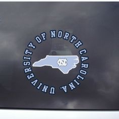 Circle State Outside Application Window Decal from Johnny T-shirt - where GAA members save 10% on all orders #UNCAlumni alumni.unc.edu