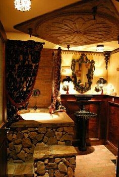 wonderful lux gothic bathroom decor | old-school gothic