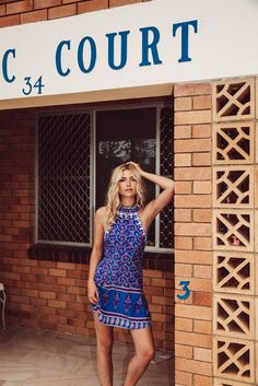 Drifter Mini Dress Summer Blues - Arnhem Clothing