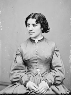 Anna Elizabeth Dickinson, between 1855and 1865.  American advocate for the abolition of slavery and women's suffrage, as well as a gifted teacher, Dickinson was the first woman to speak before the United States Congress.