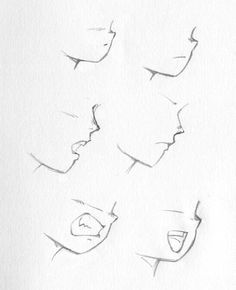 how to attract anime lips ART TIPS Drawing Heads Drawing Heads, Drawing Poses, Manga Drawing, Drawing Tips, Anime Mouth Drawing, Manga Mouth, How To Draw Anime Eyes, How To Draw Mouths, Manga Eyes