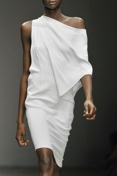 """Five dresses you can wear at the """"drop of a hat"""" (and feel incredible in)... Off Shoulder Dresses, Fashion Details, Fashion Design, Elegantes Outfit, Draped Dress, Lace Dress, Looks Style, London Fashion Weeks, Mode Style"""