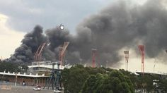Large fire breaks out at Sydney Olympic Park