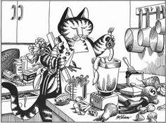B Kliban Cat Original Vintage Art Print By RockPaperNScissors 997
