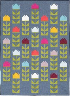 Thistle quilt designed by Elizabeth Hartman. Features Essex and Essex Yarn Dyed.