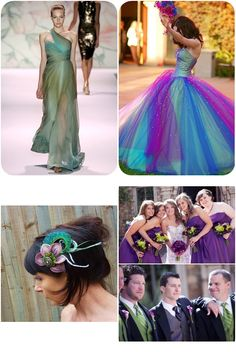 peacock purple and peacock blue together | Peacock Wedding Ideas and Inspirations | Budget Brides Guide : A ...