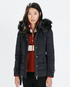 ZARA - WOMAN - DOWN JACKET WITH DETACHABLE HOOD