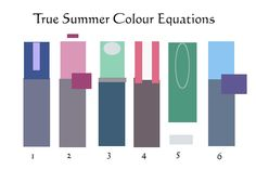 True Summer color equations (the picture turned out a bit too warm and low saturated than intended - might match SSu better)