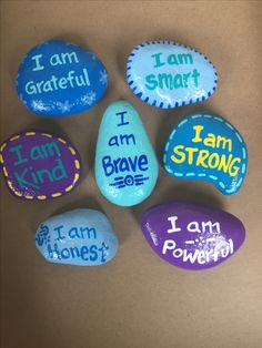 I am... Hand painted rocks by Caroline. The Kindness Rocks Project