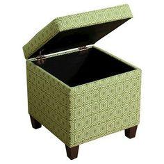 Sunshine Storage Cube Ottoman - Green - HomePop
