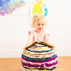 How to Make a Woven Floor Pouf for Your Little One via Brit + Co