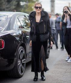 #oliviapalermo #johanneshuebl #dress #skirt #boots #heels #fashionweek #fashion #style #celebrity #ootd#black #fashionista #black #streetstyle #styli... - OLIVIA PALERMO LOOKBOOK (@olivia.palermo)