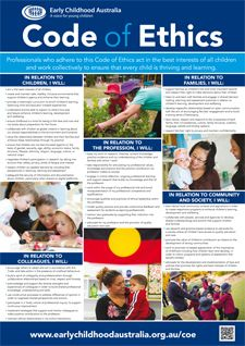 Code of Ethics A1 poster - Early Childhood Australia Shop
