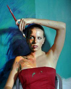 Alexa Meade / Autoportrait Peinture et Photo