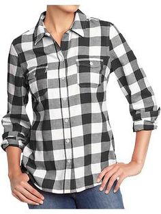 Women's Plaid Flannel Shirts   Old Navy