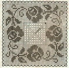 If you looking for a great border for either your crochet or knitting project, check this interesting pattern out. When you see the tutorial you will see that you will use both the knitting needle and crochet hook to work on the the wavy border. Filet Crochet, Crochet Chart, Crochet Motif, Crochet Doilies, Crochet Stitches, Crochet Borders, Crochet Flower Patterns, Crochet Squares, Crochet Designs