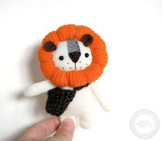 Hey, I found this really awesome Etsy listing at https://www.etsy.com/listing/187191698/little-lion-pocket-friend-475-inches