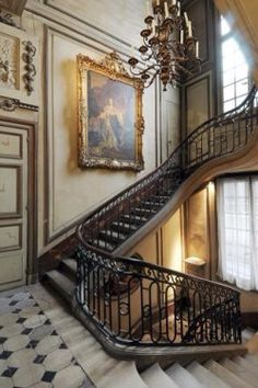 "audreylovesparis: "" ~Staircase In a Parisian Hotel """