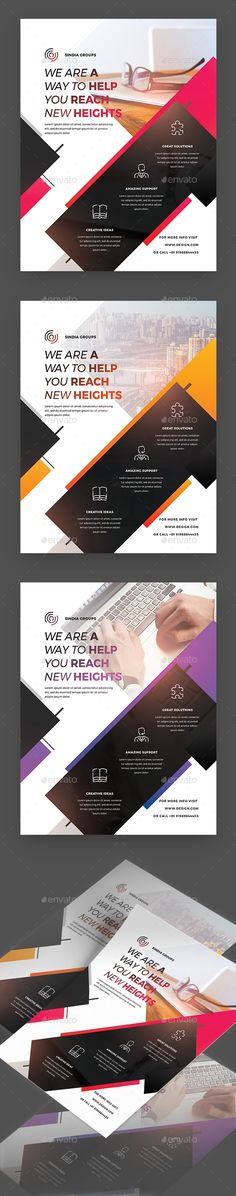 Creative Corporate Flyer — Photoshop PSD #new #products • Available here ➝ https://graphicriver.net/item/creative-corporate-flyer/20604859?ref=pxcr