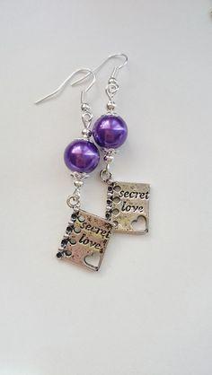 Kolczyki secret love - barbarella-br - Kolczyki długie Romantic, Drop Earrings, Etsy, Personalized Items, Gifts, Jewelry, Atelier, Cool Gifts For Men, Romantic Gifts