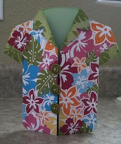 It's all about the right paper to make a project stand out and Kim sure did find the best for her Hawaiian inspired Man Shirt Card from SUMMER HOLIDAY SVG KIT!   Beautiful!