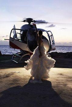 It'll Be A Quick Change ~ Be Back In 5 || #aviationweddingdress