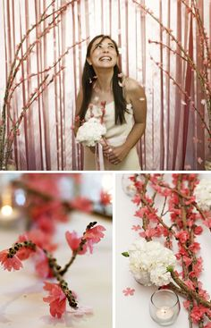 A Well-Crafted Party: {DIY} Cherry Blossom Branches