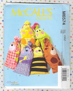 Excited to share this item from my shop: McCall's 5674 Child's Stuffed Pillow Sack or Body Pillow Dog Cat Cow Bee Frog Monkey Craft Pattern Uncut Craft Patterns, Sewing Patterns, Monkey Crafts, Cat Applique, French Pattern, Owning A Cat, Childrens Gifts, Etsy Shipping, Animal Party