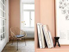 北欧モダン部屋といえば、定番はモノトーンの配色。白×黒の静かなカラートーンが主流です。しかし、ストックホルムの不動産サイト、Fantastic Fran ではモノトーンだけではない、美しいカラーを取り入れた北欧モダン部屋 … Wall Design, House Design, Dusty Pink, Colorful Decor, Paint Colors, Home And Garden, Colours, Living Room, Bedroom