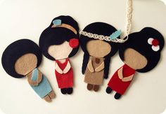 International Dolls pdf Patterns You Choose Four by Gingermelon