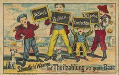 "Krause Julius ""Waren - Abzahlungs - Geschäft"", Berlin, um 1900."