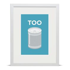 A simple but effective visual pun created by Pâté in collaboration with Place in Print, celebrating the area of Tooting in South West London. Available in a choice of two colour-ways. St Georges Hospital, Blue Neighbourhood, Visual Puns, Print Place, Poster Prints, Art Prints, Saint George, Toot, Victorian Era
