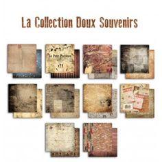Papiers Doux Souvenirs - 10 feuilles recto/verso 30,5x30,5