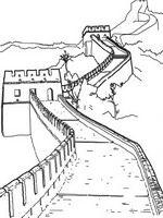 kleurplaat Chinese muur, China