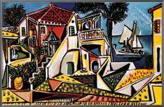 Pablo Picasso Mediterranean Landscape Vintage Print in Art, Prints, Contemporary (1980-Now), Open Editions   eBay