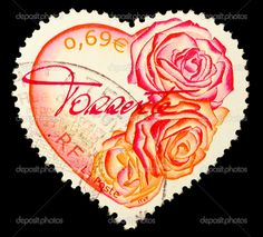 Image detail for -French Heart Shaped Postage Stamp | Stock Photo © Andy Lidstone ...