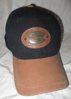 Harley Davidson Baseball Cap Hat Wool CopperMetal Detail Motorcycle Cycle  #HarleyDavidson #BaseballCap